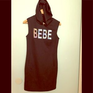 Black dress with the hood by Bebe